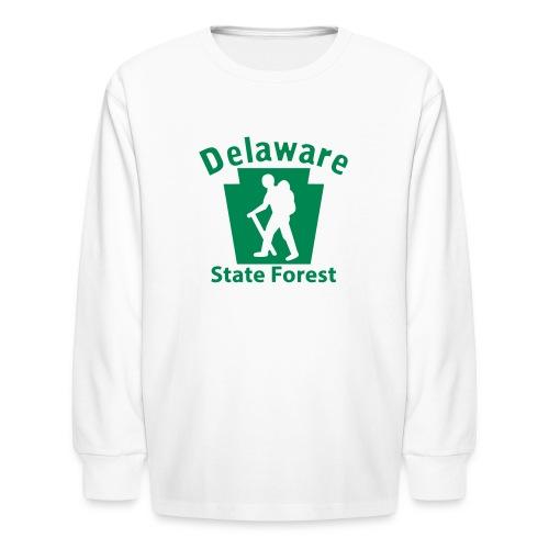 Delaware State Forest Keystone Hiker male - Kids' Long Sleeve T-Shirt