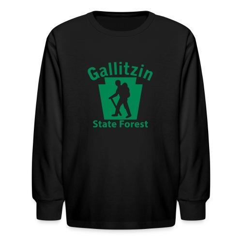 Gallitzin State Forest Keystone Hiker male - Kids' Long Sleeve T-Shirt