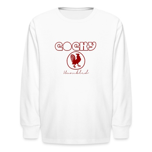 Red Humble Cock 2 - Kids' Long Sleeve T-Shirt