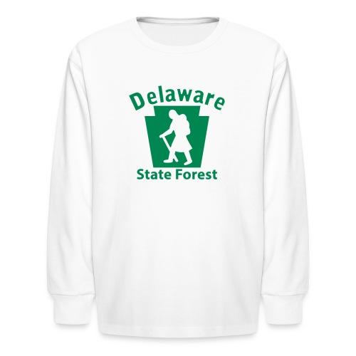 Delaware State Forest Keystone Hiker female - Kids' Long Sleeve T-Shirt