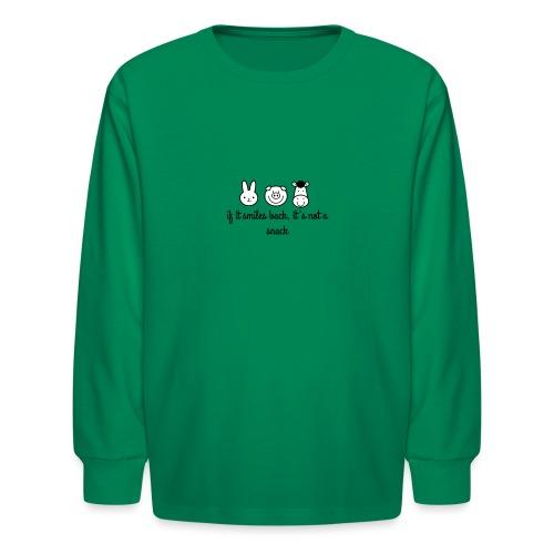 SMILE BACK - Kids' Long Sleeve T-Shirt