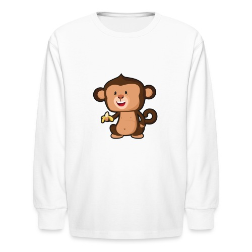 Baby Monkey - Kids' Long Sleeve T-Shirt