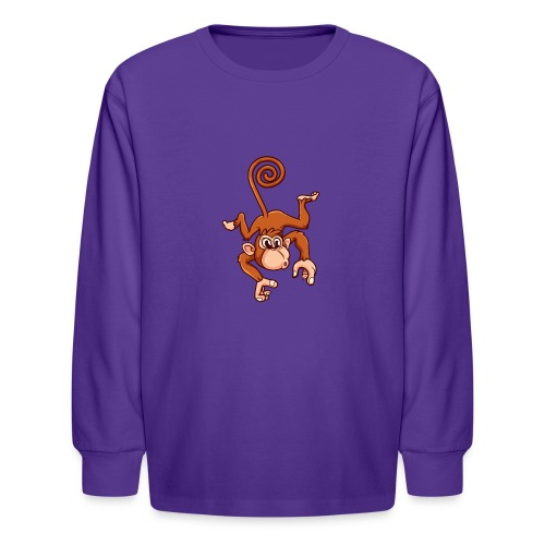 Cheeky Monkey - Kids' Long Sleeve T-Shirt