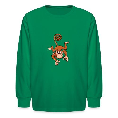 Cheeky Monkey - Kids' Long Sleeve T-Shirt