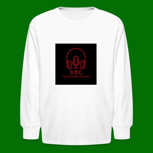 SPC Logo Black/Red - Kids' Long Sleeve T-Shirt
