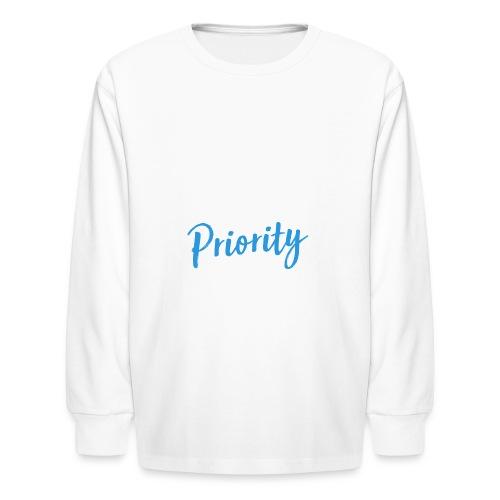 Self-Love is My Priority Shirt Design - Kids' Long Sleeve T-Shirt
