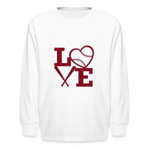 Love baseball - Kids' Long Sleeve T-Shirt