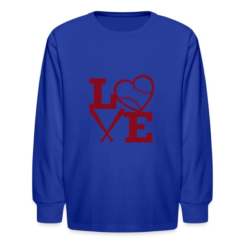 Love baseball - Kids' Long Sleeve T-Shirt