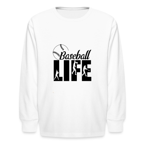 Baseball life - Kids' Long Sleeve T-Shirt