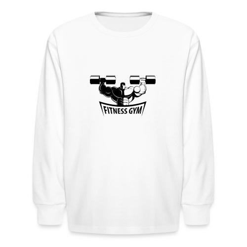 Fitness Gym Muscled Bodybuilding Dumbbells - Kids' Long Sleeve T-Shirt