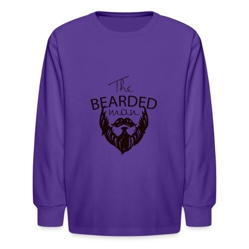 The bearded man - Kids' Long Sleeve T-Shirt