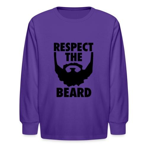 Respect the beard 05 - Kids' Long Sleeve T-Shirt