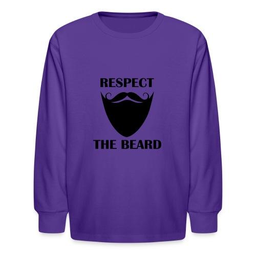 Respect the beard 07 - Kids' Long Sleeve T-Shirt