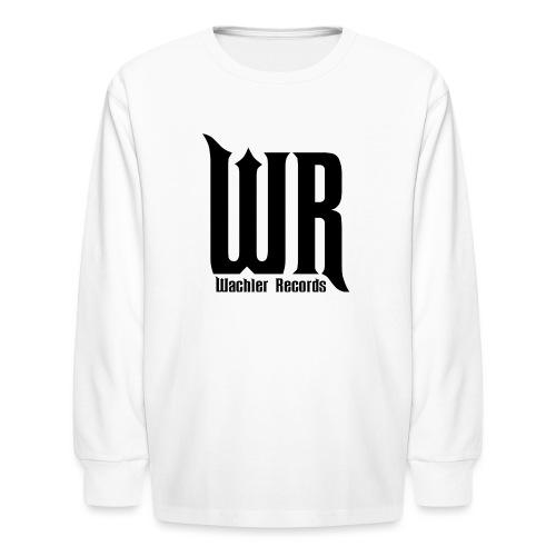 Wachler Records Dark Logo - Kids' Long Sleeve T-Shirt