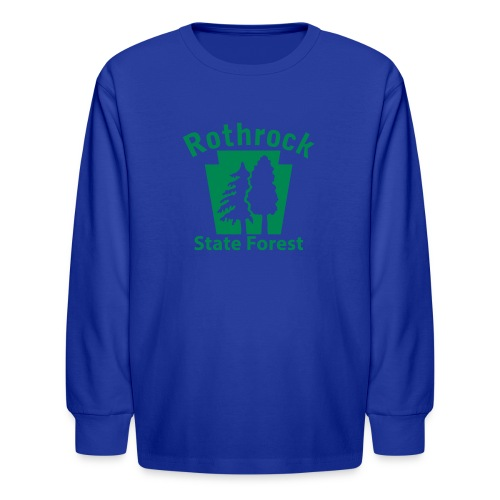 Rothrock State Forest Keystone (w/trees) - Kids' Long Sleeve T-Shirt