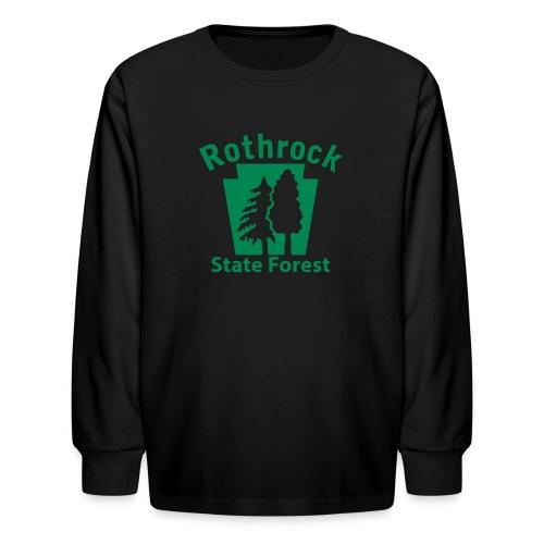Rothrock State Forest Keystone (w/trees) - Kids' Long Sleeve T-Shirt