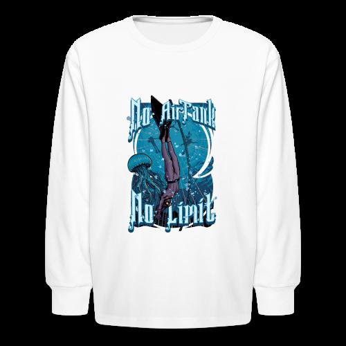 No Air Tank No Limit Freediving merchandise - Kids' Long Sleeve T-Shirt