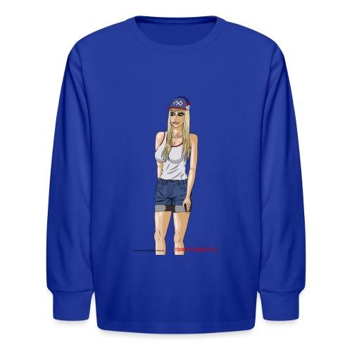 Gina Character Design - Kids' Long Sleeve T-Shirt