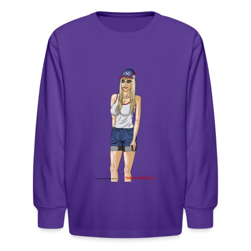 Gina Character Design - Kids' Long Sleeve T-Shirt