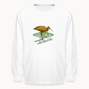 BIRDER - White-faced ibis - Carolyn Sandstrom - Kids' Long Sleeve T-Shirt