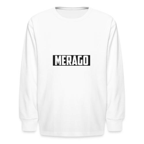 Transparent_Merago_Text - Kids' Long Sleeve T-Shirt