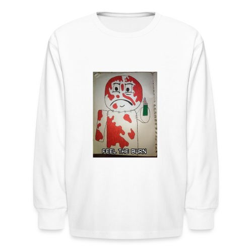 Playing with fire - Kids' Long Sleeve T-Shirt