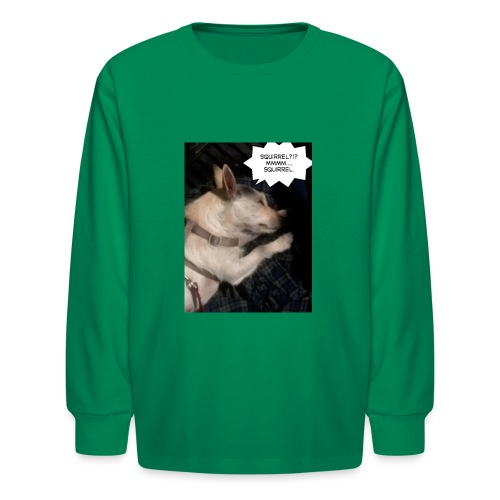 Dreaming of squirrel - Kids' Long Sleeve T-Shirt