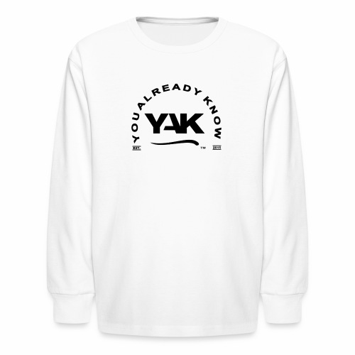 YAK Logos 10 - Kids' Long Sleeve T-Shirt