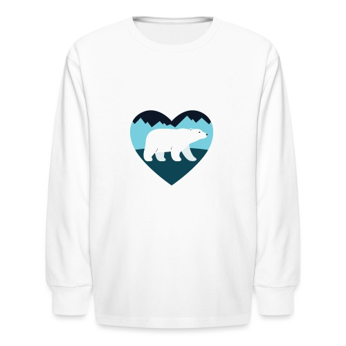 Polar Bear Love - Kids' Long Sleeve T-Shirt