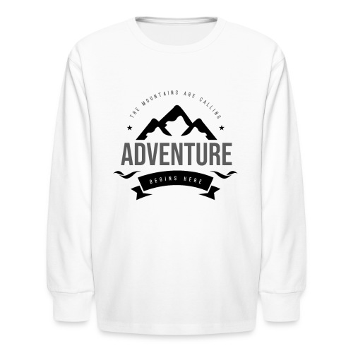The mountains are calling T-shirt - Kids' Long Sleeve T-Shirt