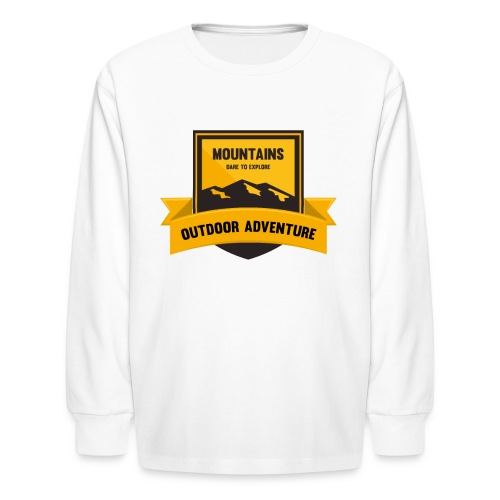 Mountains Dare to explore T-shirt - Kids' Long Sleeve T-Shirt