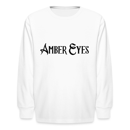 AMBER EYES LOGO IN BLACK - Kids' Long Sleeve T-Shirt