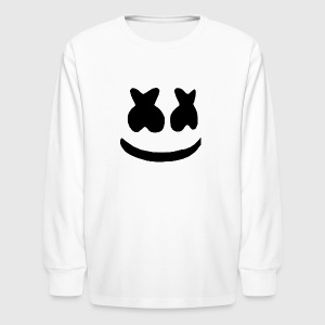 marshmello face - Kids' Long Sleeve T-Shirt