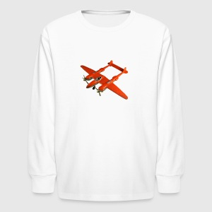 Hubley all metal Lockheed P 38 - Kids' Long Sleeve T-Shirt