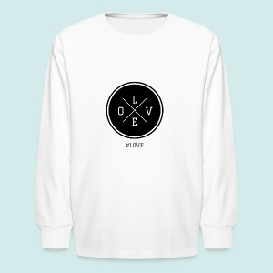 #love black and white - Kids' Long Sleeve T-Shirt