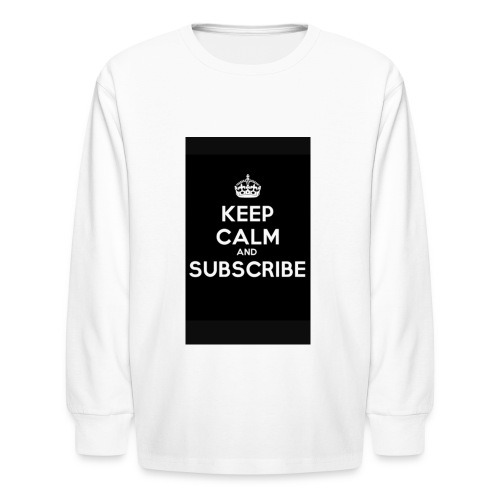 Keep calm merch - Kids' Long Sleeve T-Shirt