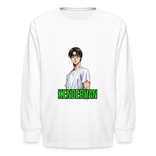 Kenderman manga style merch - Kids' Long Sleeve T-Shirt