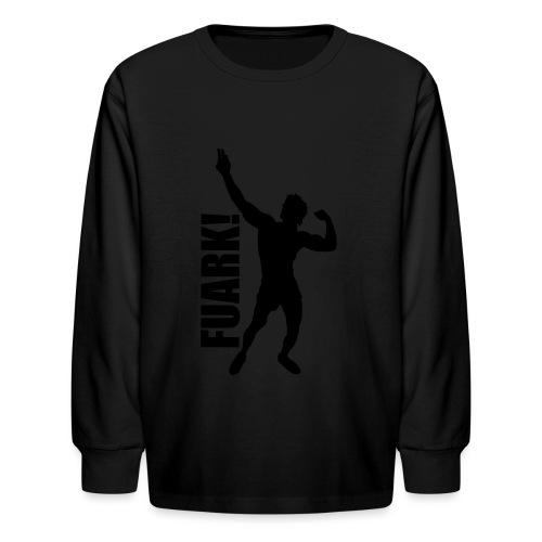 Zyzz Silhouette FUARK - Kids' Long Sleeve T-Shirt
