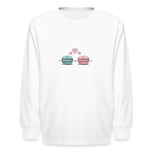 Macarons Couple - Kids' Long Sleeve T-Shirt