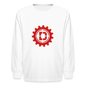 Stacked Logo - Kids' Long Sleeve T-Shirt