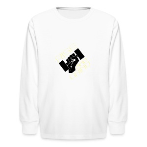 RISE AND GRIND - Kids' Long Sleeve T-Shirt