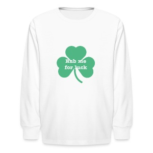 Rub me for luck - Kids' Long Sleeve T-Shirt