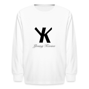 Young Kevino Official Logo (Black) - Kids' Long Sleeve T-Shirt