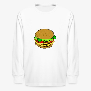 Comic Burger - Kids' Long Sleeve T-Shirt