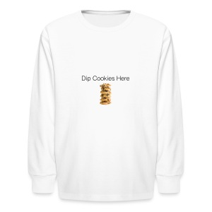 Dip Cookies Here mug - Kids' Long Sleeve T-Shirt