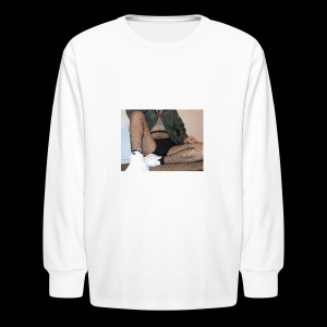 self modeled - Kids' Long Sleeve T-Shirt