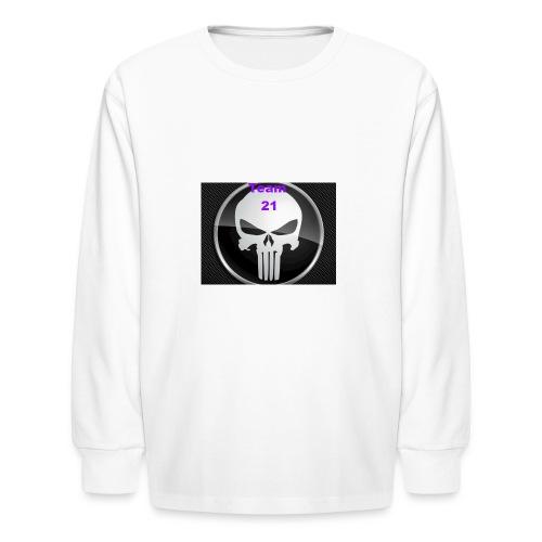 Team 21 white - Kids' Long Sleeve T-Shirt