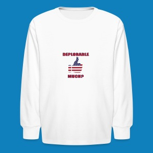Deplorable Much? - Kids' Long Sleeve T-Shirt