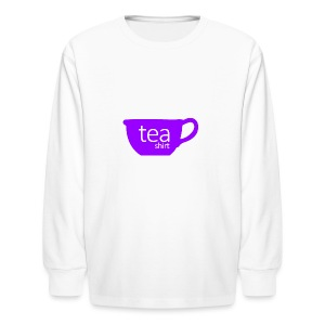 Tea Shirt Simple But Purple - Kids' Long Sleeve T-Shirt