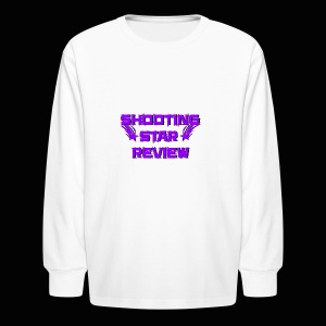 Shooting Star Review Purple Logo - Kids' Long Sleeve T-Shirt